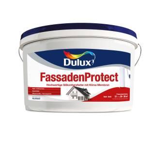 Dulux 5194996 FassadenProtect Weiß 5 L Schutz Abperl Effekt Algenschutz atmungsaktiv