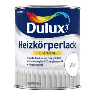 Dulux Heizkörperlack Weiß Glänzend Lack für Heizkörper Eisen Stahl Hitzebeständig