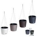 Hängeblumentopf BENIDORM Blumenampel Blumentopf Kunststoff Rattan-Optik