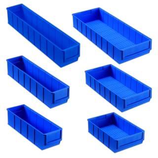 Allit ProfiPlus ShelfBox 300/ 400/ 500 S/B blau Industrie Regal Kleinteilebox