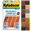 Xyladecor Holzschutzlasur 2 in1 Außen Imprägnierung Farbe Grundierung 2,5 Liter