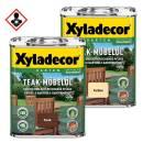 Xyladecor Teak Möbelöl 0,75 l Lasur Teak / Farblos Außen Hartholz Restaurieren