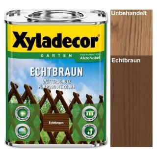 Xyladecor Echtbraun 0,75 / 2,5 / 5 l Holzschutz Lasur Außen Jägerzaun Gartenzaun Gatter