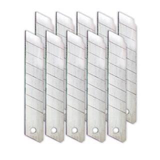10er Pack Abbrechklingen Austausch Ersatzklingen Cutter Messer 18 mm