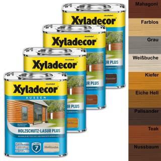 Xyladecor Holzschutz-Lasur PLUS 750 ml Außen Imprägnierung Langzeit Farben