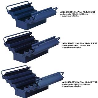 Allit McPlus Metall Werkzeugkasten Werkzeugkiste Werkzeugtrage Koffer blau