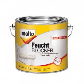 Molto 5077802 Feucht Blocker 2,5l Grundierung für Wände und Decken Isolierfarbe