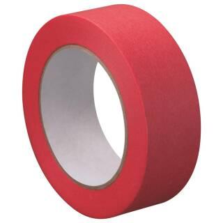 Washi Tape Strong Abklebeband Rot 50m x 38mm Reispapierband Temperaturbeständig Lackieren Dünn Nassfest