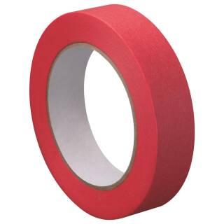 Washi Tape Strong Abklebeband Rot 50m x 25mm Reispapierband Temperaturbeständig Lackieren Dünn Nassfest