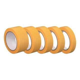 Washi Tape Gold Premium 50m Abklebeband 19/25/30/38/50 mm Reispapierband Temperaturbeständig Lackieren Dünn Nassfest