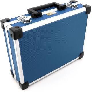 Allit AluPlus Basic >L< 35 Utensilien-/Verpackungskoffer Schminkkoffer blau