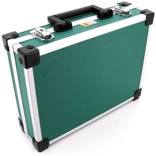 Allit AluPlus Basic >L< 35 Utensilien-/Verpackungskoffer Schminkkoffer grün
