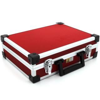Allit AluPlus Basic >L< 35 Utensilien-/Verpackungskoffer Schminkkoffer rot