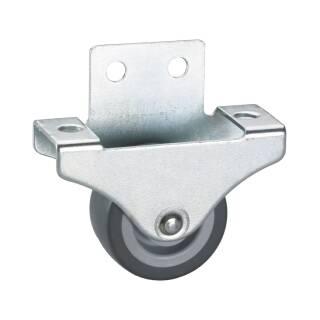 Parkett-Bockrolle 38 x 18 mm, TPE-Rad, weiche Laufbahn, Möbelrolle, Transportrolle, Parkettrolle, Seitenrolle