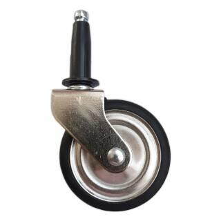 Teewagenrolle 50 x 9 mm schwarz Hülse 10 mm 8 kg Rad Rolle Servierwagen Lenkrolle