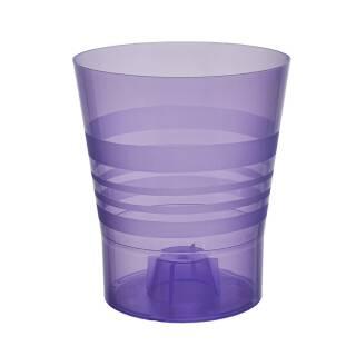 Blumentopf Orchid Orchideentopf Pflanztopf Kunststoff transparent 15cm lila / violett