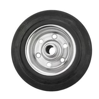 Vollgummi-Rad 125x37x15 mm Rola Nabe 44 mm, Stahlfelge, schwarz