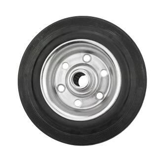 Vollgummi-Rad Stahlfelge schwarz pannensicher Reifen Räder verschiedene Größen