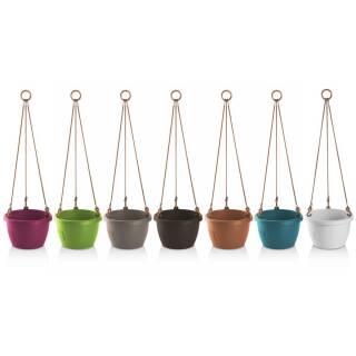 Hängeblumentopf Marina Blumenampel Selbstbewässerung 20cm verschiedene Farben