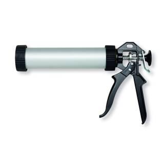 Kartuschenpresspistole ALU 310 ml mit Düse Silikonpresse Kartuschen Schlauchbeutel Abdichten