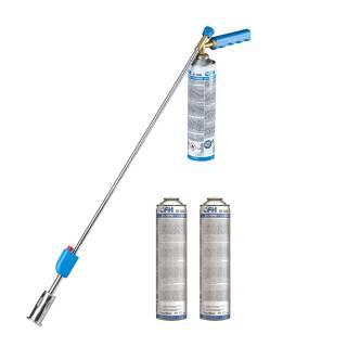 CFH Set Bio-Gärtner PZ 4000 inkl. 1 Druckgasdose Piezozündung Alubrenner + 2x Nachfüllgas