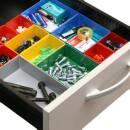 10 Einsatzboxen Allit EuroPlus Insert 63/1-63/5 Industrienorm Kleinteilemagazin
