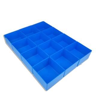 Bestückung EuroPlus Pro >M< - Einsatzboxen blau