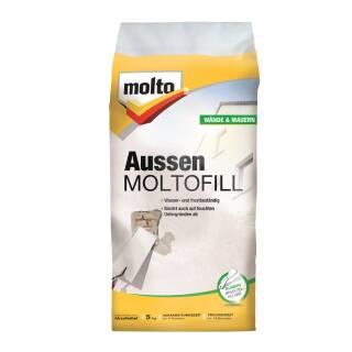 Molto AUSSEN MOLTOFILL 5kg Außenspachtel Spachtelpulver Außen Spachtelmasse weiß
