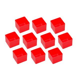 10 Einsatzboxen Allit EuroPlus Insert 45/1 Industrienorm, 456300 rot Gr. 1