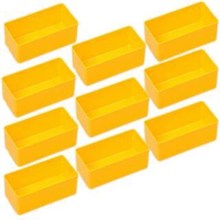 10 Einsatzboxen Allit EuroPlus Insert 45/2 Industrienorm, 456301 gelb Gr. 2