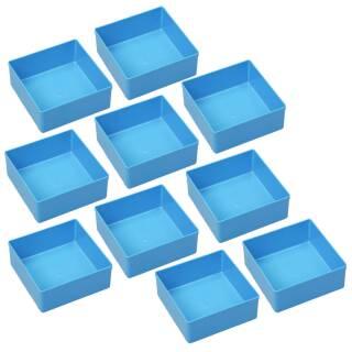 10 Einsatzboxen Allit EuroPlus Insert 45/3 Industrienorm, 456302 blau Gr. 3