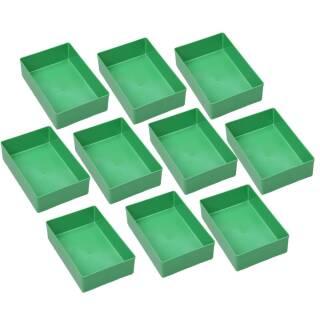 10 Einsatzboxen Allit EuroPlus Insert 45/4 Industrienorm, 456303 grün Gr. 4