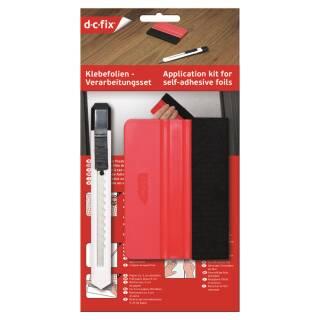 d-c-fix Klebefolien Verarbeitungsset Rakelset Rakel Gummirakel Cuttermesser