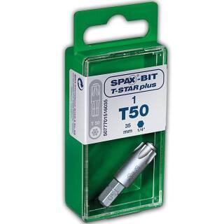 SPAX BITs T-Star plus 35 mm im Cut-Case Inhalt: 1 Stück T50