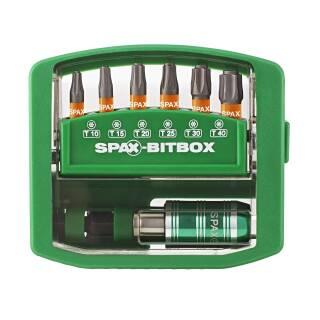 SPAX BITcheck Rapidator BIT-Halter + 6 SPAX BITs T-STAR plus T10/T15/T20/T25/T30/T40